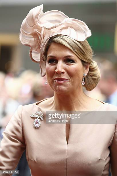 Queen Maxima of The Netherlands arrives at 'Haus der Niederlande' on May 27 2014 in Muenster Germany The Royal couple is on a twoday visit to Germany