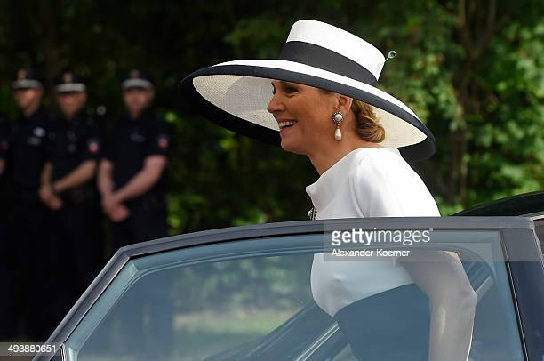 Queen Maxima of The Netherlands arrives at Oldenburg University on May 26 2014 in Oldenburg Germany