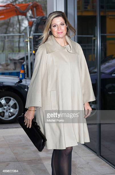Queen Maxima of The Netherlands arrives to receive the Dutch Sustainable Growth Report on December 2 2014 in Amsterdam The Netherlands