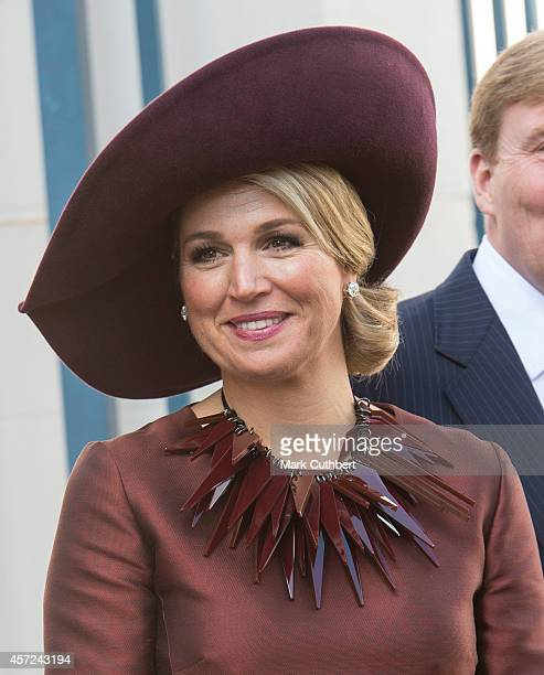 Queen Maxima of the Netherlands at The Noordeinde Palace on October 15 2014 in The Hague Netherlands
