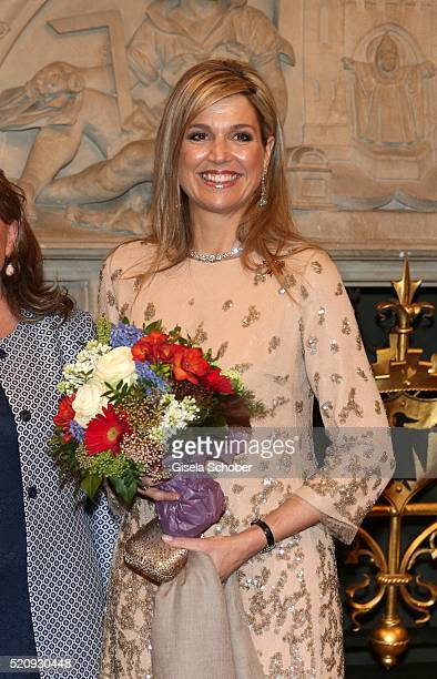 Queen Maxima of the Netherlands at 'townhall' during a twoday visit of King WillemAlexander and Queen Maxima of the Netherlands in Bavaria to...