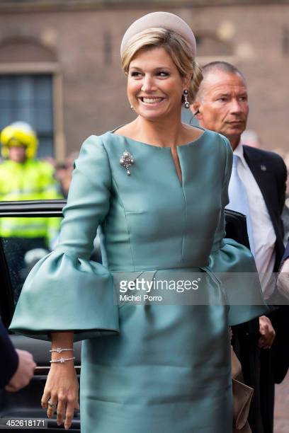 Queen Maxima of The Netherlands attends the 200th anniversary celebrations of the kingdom of The Netherlands at the Ridderzaal on November 30 2013 in...