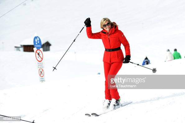 Queen Maxima of the Netherlands attends the annual winter photocall on February 17 2014 in Lech Austria