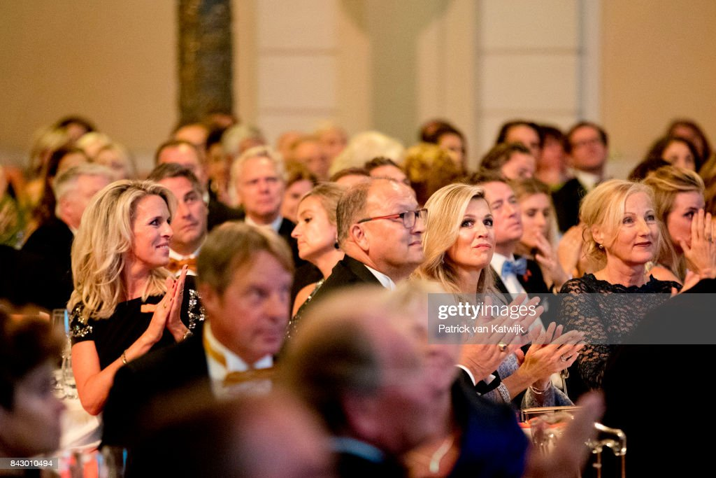 Queen Maxima of The Netherlands attends the benefit gala dinner for the Princess Maxima Center for childrenÕs oncology in the Concertbuilding on September 5, 2017 in Amsterdam, Netherlands. The benefits of the dinner go to two projects of the Center; the parent-child rooms and an intra-operative MRI scan.