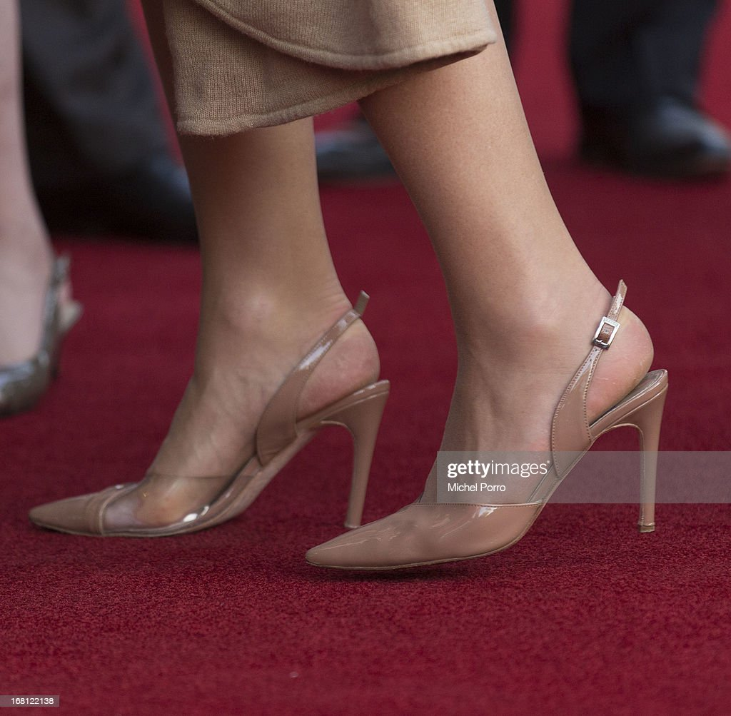 Queen Maxima of The Netherlands (shoe detail) attends the Freedom Concert on May 5, 2013 in Amsterdam Netherlands.
