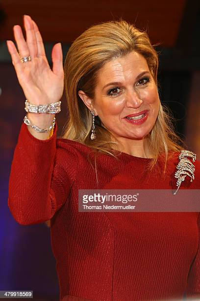 Queen Maxima of the Netherlands attends the German Media Award on March 21 2014 in BadenBaden Germany The German Media Awards was created in 1992 to...