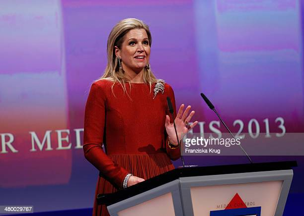 Queen Maxima of the Netherlands attends the German Media Award on March 21 2014 in BadenBaden Germany