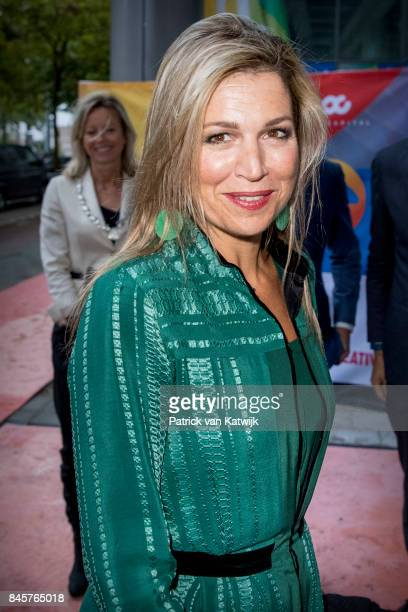 Queen Maxima of The Netherlands attends the LOEY award ceremony for the best online entrepreneur in the Cloud building on September 11 2017 in...