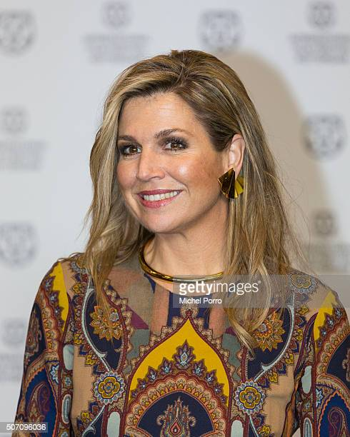 Queen Maxima of The Netherlands attends the opening of the Rotterdam International Film Festival on January 27 2016 in Rotterdam Netherlands