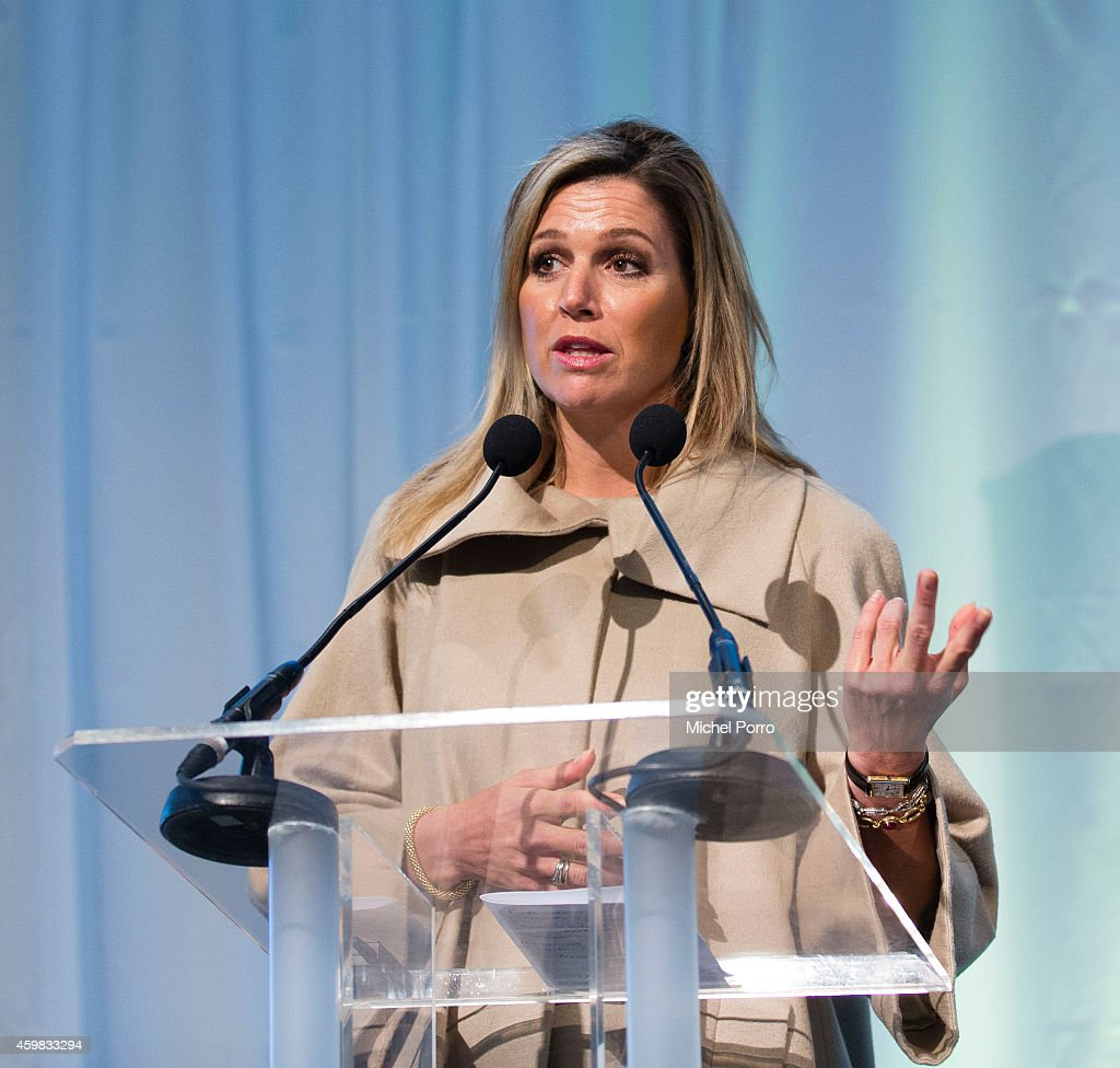 Queen Maxima of The Netherlands attends the presentation ceremony of the Dutch Sustainable Growth Report on December 2, 2014 in Amsterdam, The Netherlands.