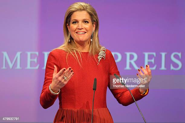 Queen Maxima of the Netherlands attends the the German Media Award on March 21 2014 in BadenBaden Germany The German Media Awards was created in 1992...