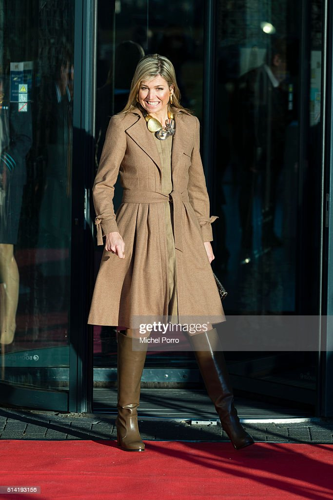 Queen Maxima of The Netherlands attends the Women Inc. gender sensitive health care seminar on March 7, 2016 in Oegstgeest, Netherlands.