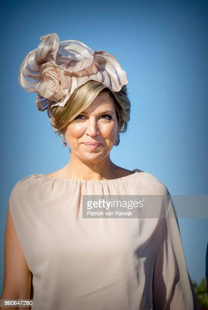 Queen Maxima of The Netherlands departs from Military airport Figo Madura on October 12 2017 in LISBON Portugal