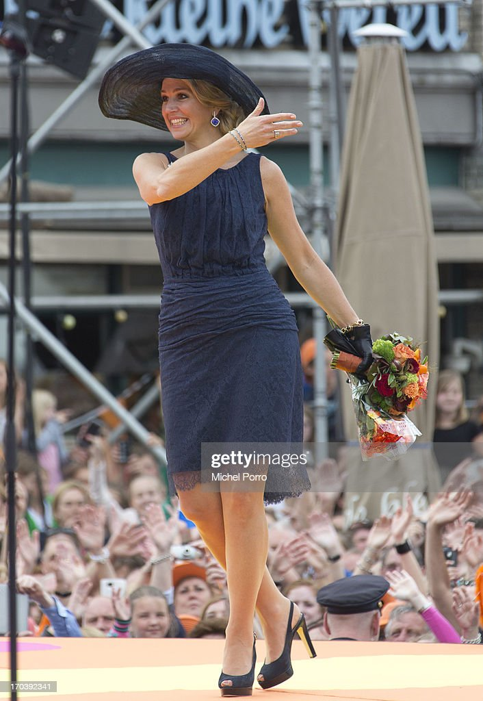 Queen Maxima of The Netherlands during an official visit on June 12, 2013 in Den Bosch, Netherlands.
