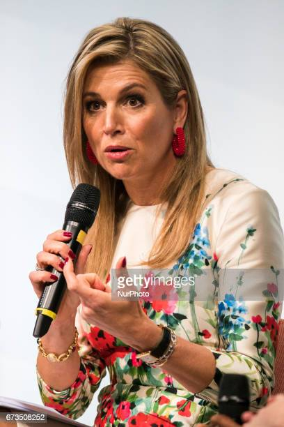 Queen Maxima of the Netherlands is pictured during the Woman 20 Summit in Berlin Germany on April 25 2017 The event which is connected to the G20...