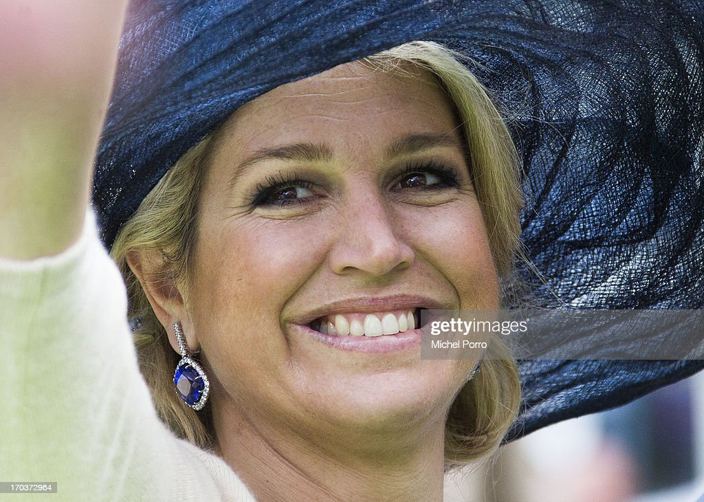 Queen Maxima of The Netherlands is seen during an official visit on June 12, 2013 in Venlo, Netherlands.