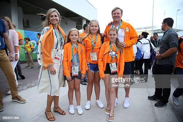 Queen Maxima of the Netherlands King WillemAlexander of the Netherlands and their daughters Princess Ariane Princess CatharinaAmalia Princess Alexia...