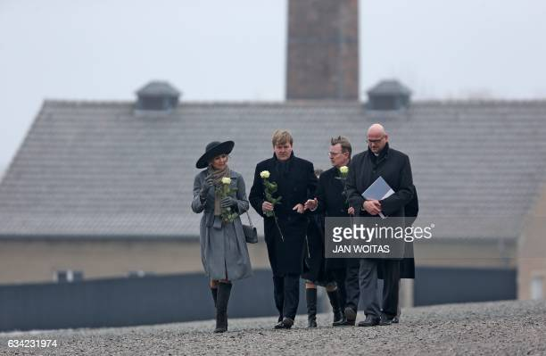 Queen Maxima of the Netherlands King WillemAlexander of the Netherlands and Thuringia's State Premier Bodo Ramelow accompanied by RikolaGunnar...