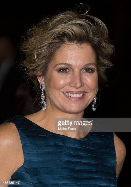 Queen Maxima of The Netherlands leaves after attending a celebration of the reign of Princess Beatrix on February 1 2014 in Rotterdam Netherlands