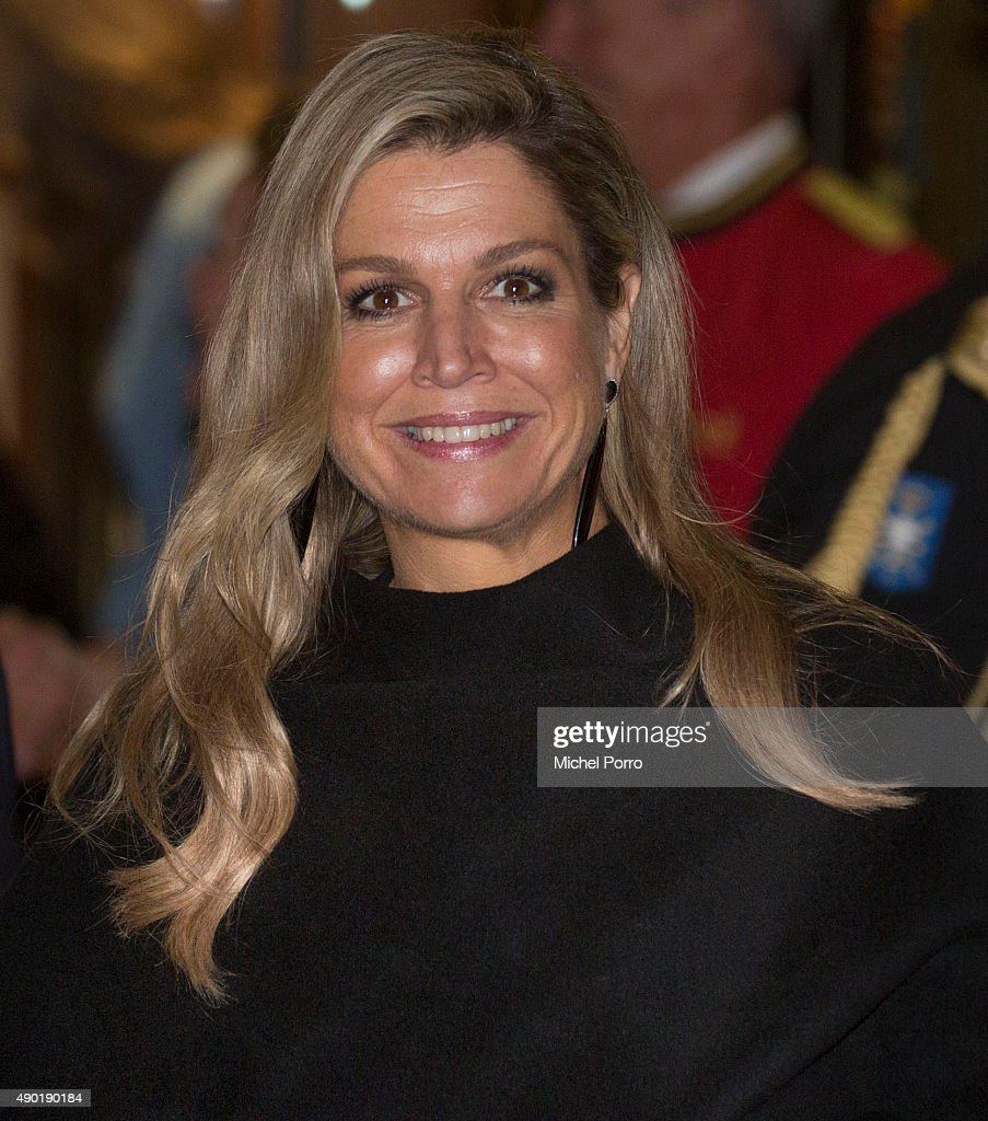 Queen Maxima of The Netherlands leaves after festivities marking the final celebrations of 200 years Kingdom of The Netherlands on September 26, 2015 in Amsterdam, Netherlands