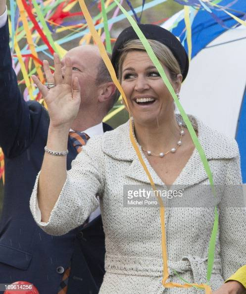 Queen Maxima Of The Netherlands opens Fioretti College on May 29 2013 in Hillegom Netherlands