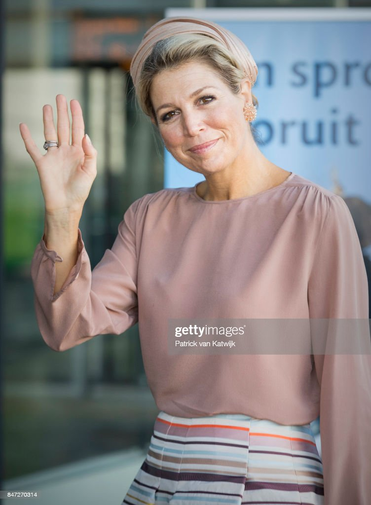 Queen Maxima Of The Netherlands Opens The Congress Day Of The Youth Professional in Utrecht