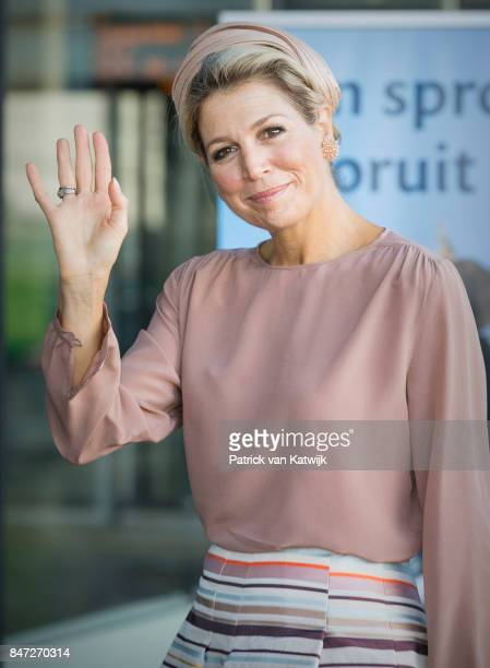 Queen Maxima of The Netherlands opens the congress 'The Day of Youth Professionals' on Friday 15 September in the Jaarbeurs on September 15 2017 in...