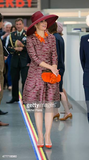 Queen Maxima of The Netherlands opens the Design Derby Netherlands Belgium on June 19 2015 in Rotterdam Netherlands