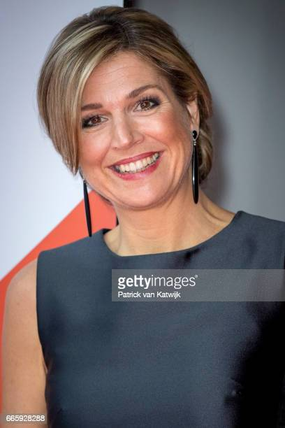 Queen Maxima of the Netherlands opens the headquarters office of StudyPortals on April 7 2017 in Eindhoven The Netherlands Mission of StudyPortals is...