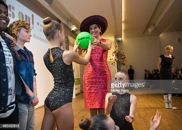 Queen Maxima of The Netherlands opens the international Hands On conference on child education in museums in the Rijksmuseum on October 13 2015 in...