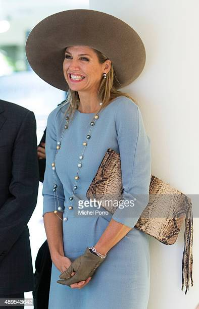 Queen Maxima of The Netherlands opens the new visitor center of the Netherlands Bank on September 22 2015 in Amsterdam Netherlands