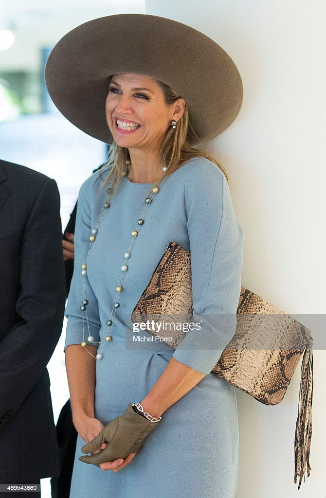 Queen Maxima of The Netherlands opens the new visitor center of the Netherlands Bank on September 22, 2015 in Amsterdam, Netherlands