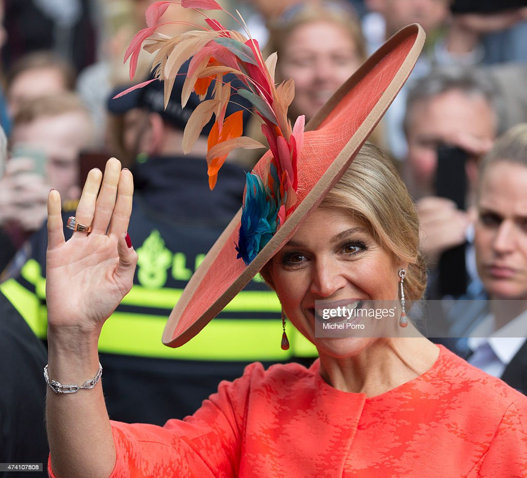 Queen Maxima of The Netherlands opens the sculpture exhibition Vormidable on May 20, 2015 in The Hague, Netherlands.