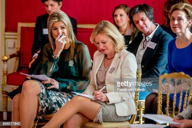 Queen Maxima of The Netherlands opens the symposium 'tomorrow more music in the class' in Palace Noordeinde on March 22 2017 in The Hague The...