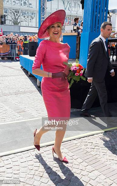 Queen Maxima of The Netherlands participates in King's Day celebrations on April 27 2015 in Dordrecht Netherlands
