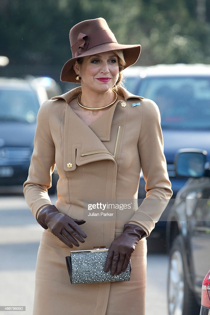 Queen Maxima of The Netherlands visits Bispebjerg Hospital, during a State visit to Denmark, on March 18, 2015 in Copenhagen, Denmark.