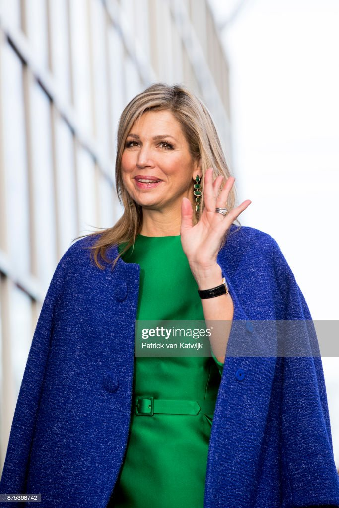 "Queen Maxima  Of The Netherlands Visits Family Business ""Ocatube"" in Delft"