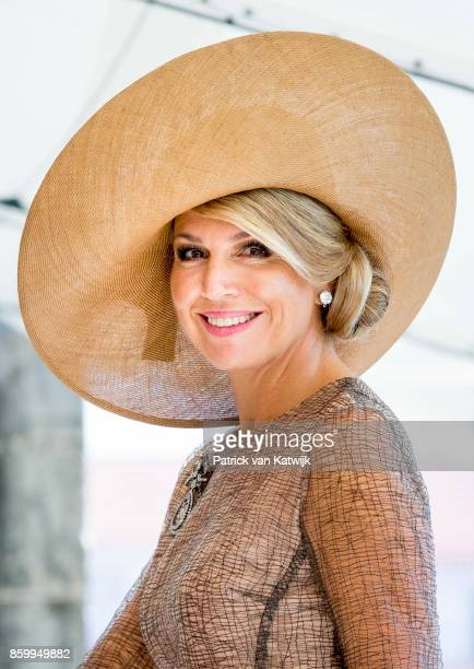 Queen Maxima of The Netherlands visits President Marcelo Rebelo de Sousa of Portugal at Palacio de Belem on October 10 2017 in Lisboa CDP Portugal