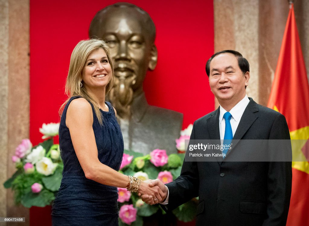 Queen Maxima Of The Netherlands On A Three Day Visit In Vietnam - Day Two