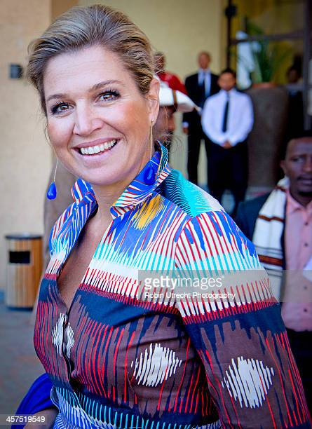 Queen Maxima of the Netherlands visits the Anja Cfefa School during her 5 day visit to Ethiopia and Tanzania in her role as United Nations Secretary...