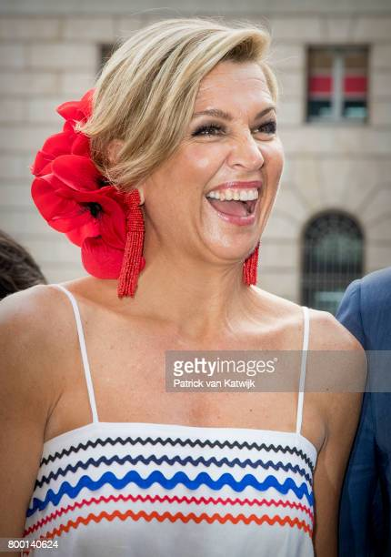 Queen Maxima of The Netherlands visits the concept store EATALY during the third day of a royal state visit to Italy on June 22 2017 in Rome Italy