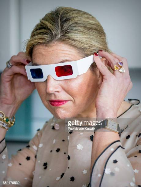 Queen Maxima of the Netherlands visits the Princess Maxima children Oncology center on May 18 2017 in Utrecht Netherlands The Queen visits the...