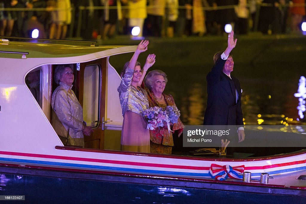 Queen Maxima of The Netherlands,Princess Beatrix of The Netherlands, and <a gi-track='captionPersonalityLinkClicked' href=/galleries/search?phrase=King+Willem-Alexander&family=editorial&specificpeople=160214 ng-click='$event.stopPropagation()'>King Willem-Alexander</a> of The Netherlands attend the Freedom Concert on May 5, 2013 in Amsterdam Netherlands.