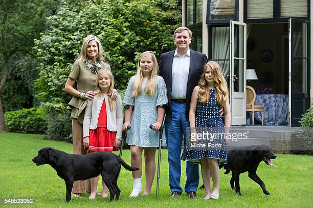 Queen Maxima Princess Ariane Crown Princess CatharinaAmalia King WillemAlexander and Princess Alexia of The Netherlands pose for pictures during the...