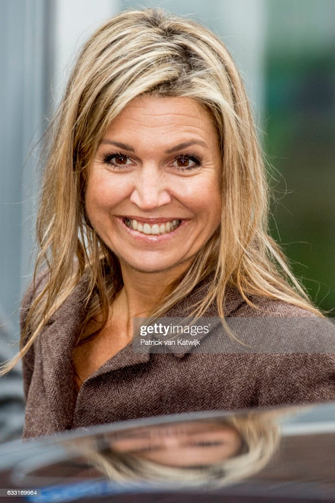 Queen Maxima visits the Windmill park Nijmegen-Betuwe in Nijmegen on January 31, 2017 in Nijmegen, The Netherlands. The park is an initiative owned by private citizens through the local cooperative, Windpower Nijmegen. (Photo by Patrick van Katwijk/Getty Images) Images)