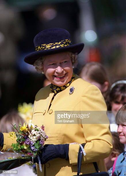 Queen Meets The Crowds Of Wellwishers At Sandringham On Her 70th Birthday
