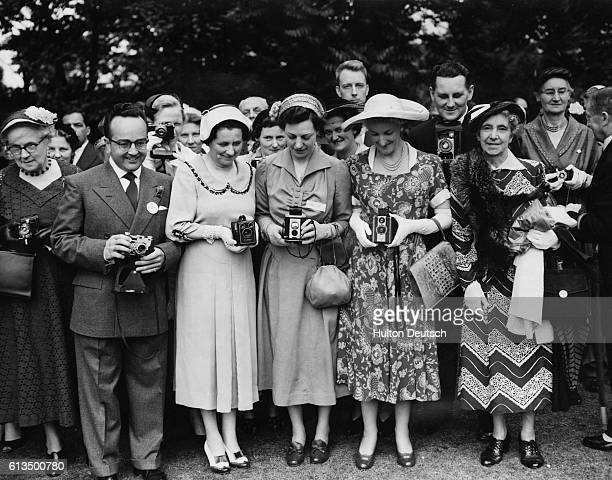 Queen Mother at Garden Party HM Queen Elizabeth The Queen Mother today attended a Garden party in the grounds of Lambeth Palace which was given by...