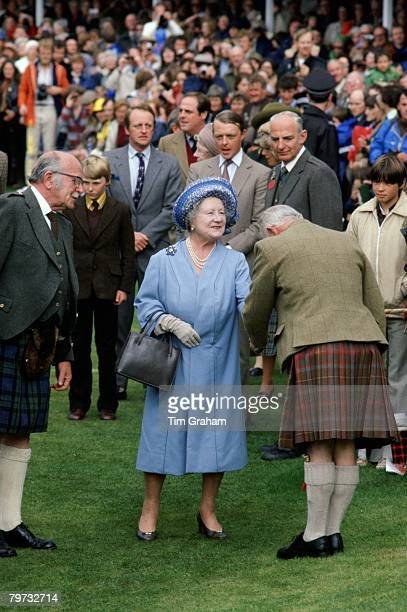 Queen Mother attends the Braemar Games in Scotland Camilla ParkerBowles can be seen in the background with her husband Andrew ParkerBowles