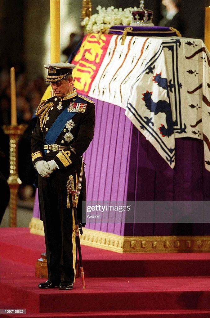Queen Mother's Lying-In-State, On the eve of her funeral the Queen Mother's four grandsons, the Prince of Wales; the Duke of York; the Earl of Wessex and Viscount Linley kept vigil beside her coffin during her Lying-in-State at Westminster Hall in London.