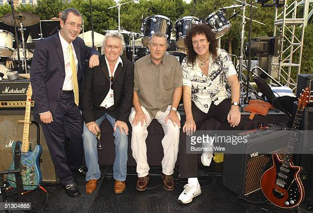 Queen musical 'We Will Rock You' makes North American premiere at Paris Las Vegas on September 8 2004 Posing for a photo are Ben Elton...